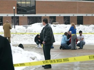 Ap Northern Illinois University Shooting Police Tape