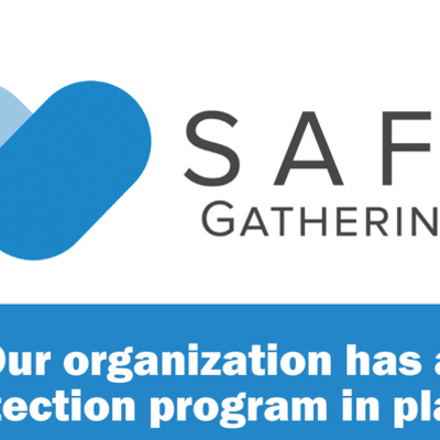 Safe Gatherings Window Cling 2018